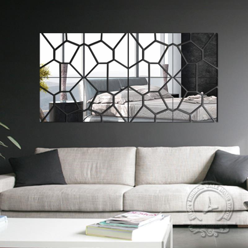 Free Shipping Hot Sale Fashion 3d Mirror Wall Stickers