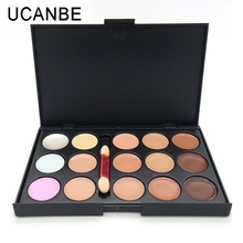 Professional 15 Colors Camouflage Concealer Palette with Brush Contour Palette Face Cream Care Camouflage Makeup Base Cosmetics(China (Mainland))