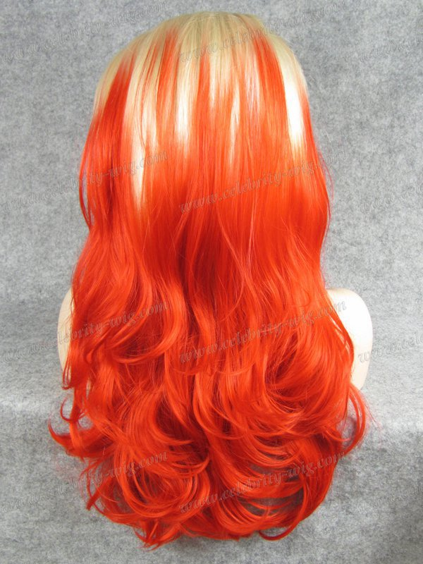 Party queen cosplay hair ombre 2 tone color synthetic lace front wig<br><br>Aliexpress