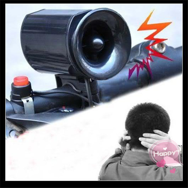 Wholesale Free Shipping New Black Bike Bicycle Electronic Bell Alarm Siren Horn Loud Speaker TY050(China (Mainland))