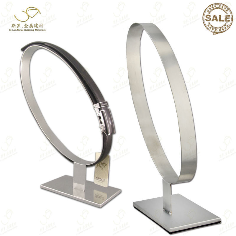 Sloped Ellipse Leather Belt Display Stand Store Show Case Display Rack(China (Mainland))