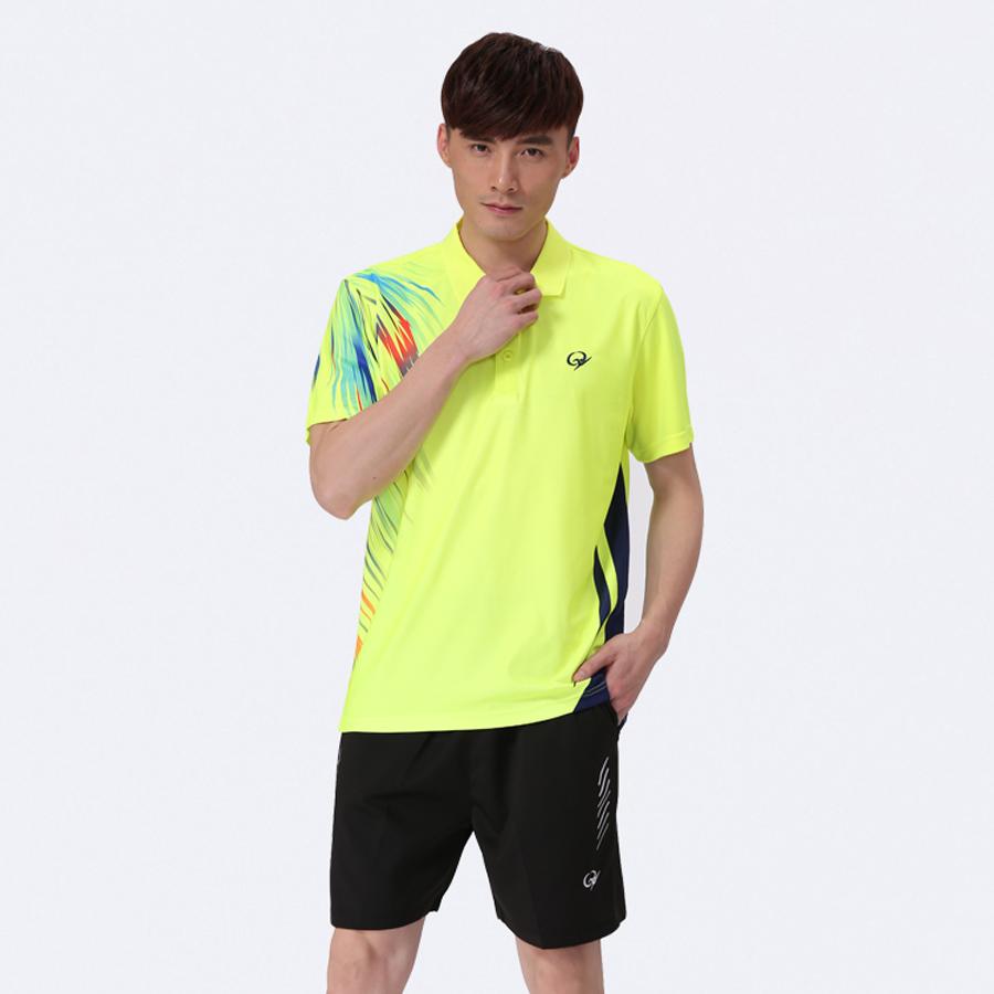 2016 New Mens Short Sleeve Badminton T shirt,Badmonton Suit Jerseys for Men's Badminton Table Tennis Volleyball Sports Uniform(China (Mainland))