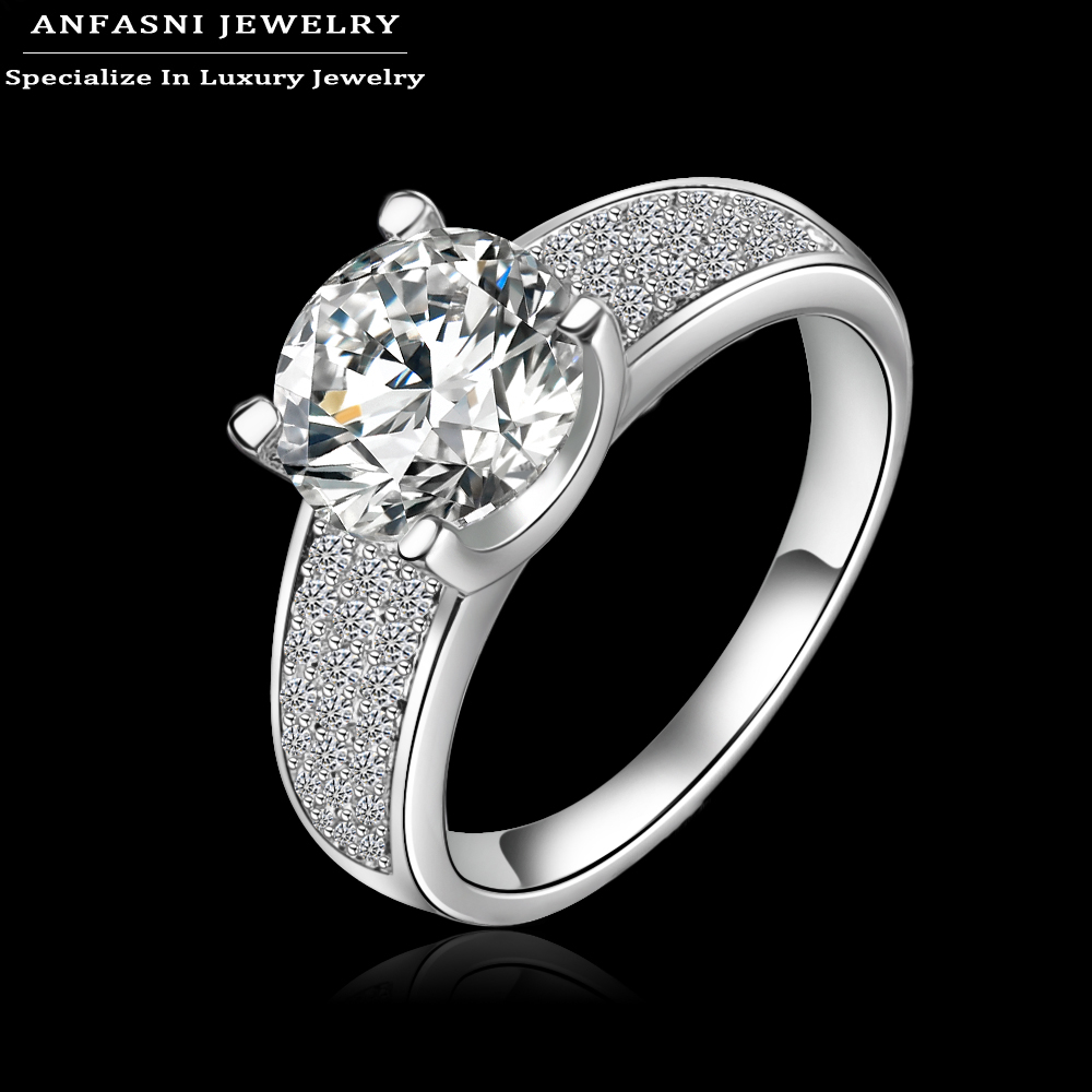Aliexpress Buy New Arrival High End Engagement Rings 18K Gold Platinum Plated AAA Cubic