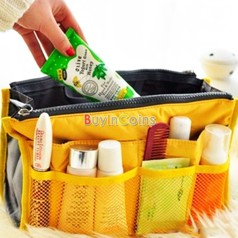 Nylon Travel Handbag Makeup Cosmetic Organizer Storage Net Case Insert Pouch Bag US AS #51272(China (Mainland))