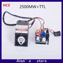 2.5 W High Power 450nm Focused Blue Laser Module The Laser Engraving and Cutting TTL Module is a 2500 MW laser tube