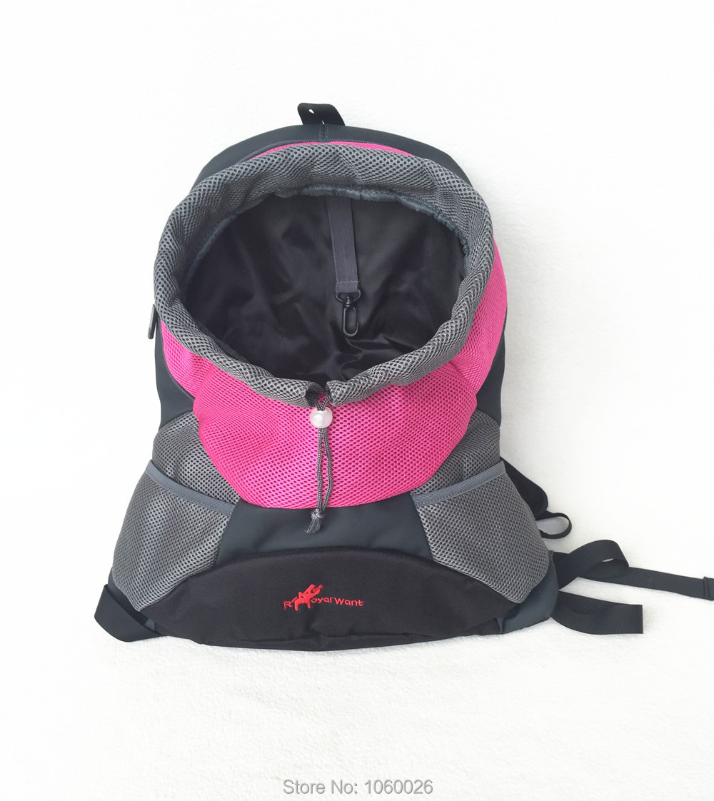 High Quality Dog Backpack Pet Carrier Bags Cats Front Bag Travel Carrier Shoulder Bags S M L Pink Mesh Head Out dog Carriers(China (Mainland))