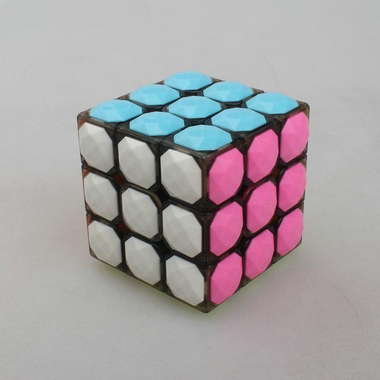 magic cube 3*3*3 plastic magic cube Professional competition Super smoothness 3 magic cube(China (Mainland))