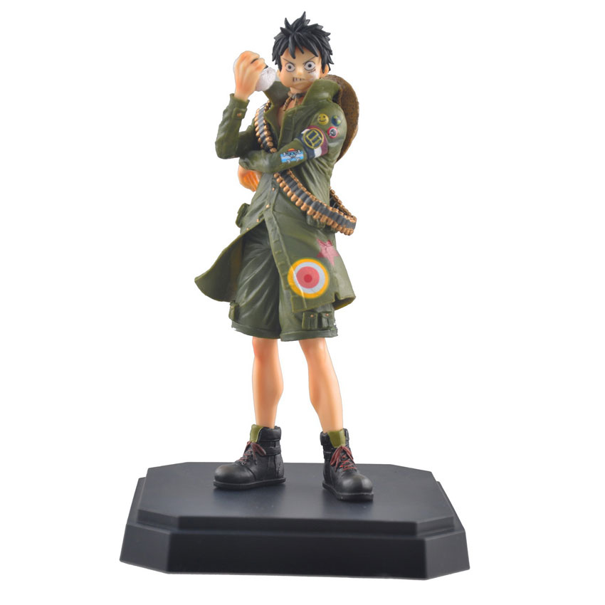 Mifen Craft 2016 New One Piece Anime Figure Military Style Monkey D Luffy PVC Figure the New World Toy Factory outlets(China (Mainland))