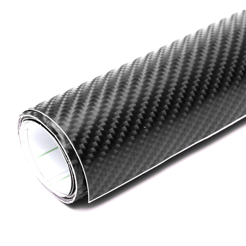 NEW Hot Sale Black 50X152cm 4D Waterproof Glossy Carbon Fiber PVC Film Vinyl Wrap DIY Car Sticker Decal Sheet(China (Mainland))
