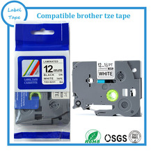 Buy Strong adhesive Laminated tze label tape 12mm black white tze s231 TZ s231 compatible label tapes brother label machine for $28.00 in AliExpress store