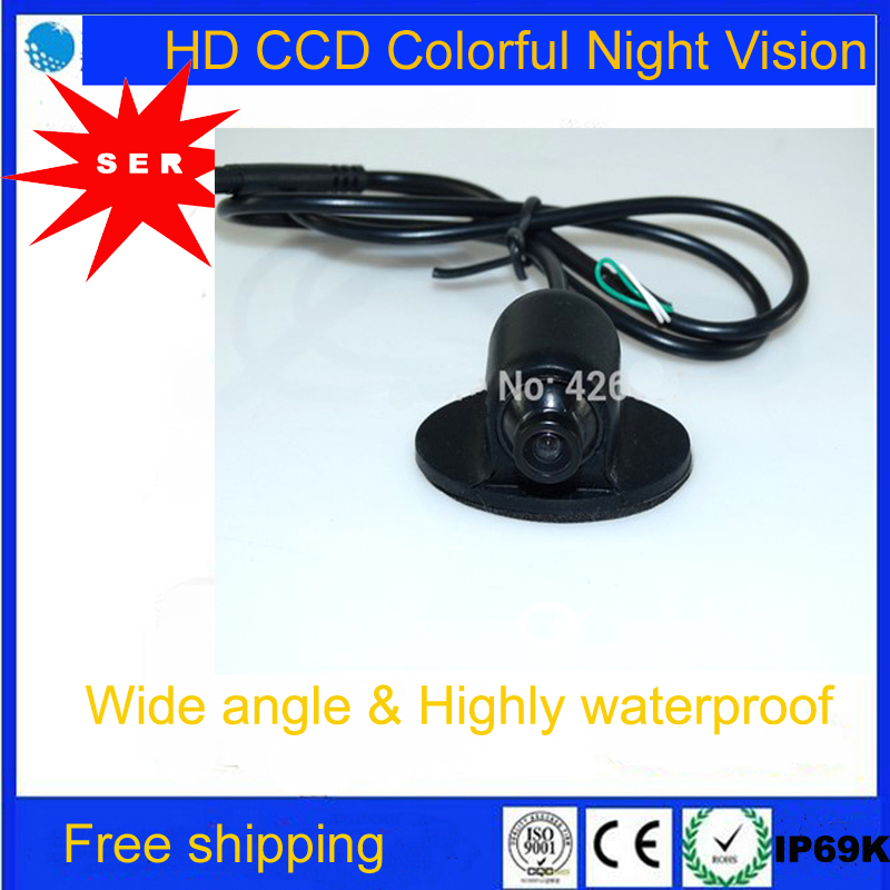 FreeShipping Promotion Mini CCD HD Night Vision 360Degree Car Rearview Camera Front Camera Front View Side Reverse Backup Camera(China (Mainland))