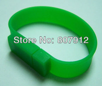 Fashion design silicon bracelets specially packing OEM usb