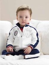 reeshipping 2pcs/set Kids Baby  Suit Boys Long Sleeve Shirt + Pant Sport Clothes Children clothing set baby boy clothes(China (Mainland))
