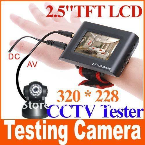 "Big discount 2.5"" TFT LCD Portable CCTV Monitor Testing Camera Video CCTV Tester free shipping"