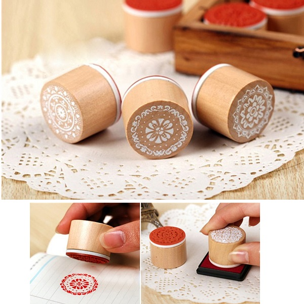 Brand New 6pcs Wooden Rubber Stamp brand new a155 6 48 288