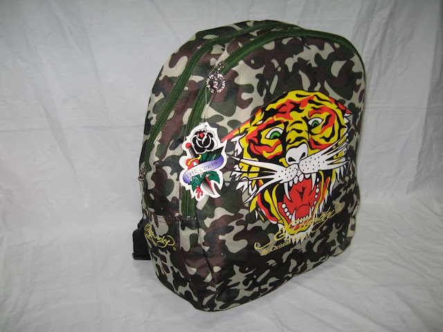 Ed hardy bags ed hardy backpack ed canvas school bag Camouflage(China (Mainland))