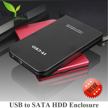free shipping high quality usb2.0 to SATA Serial ATA 2.5 inch HDD Case hard disk case Enclosure external box for SATA hard disk