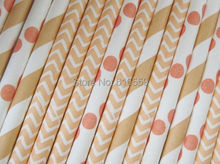 Buy Free Shipping 300pcs/lot Peach Paper Straws Mixed 01,Paper Drinking Straws For Wedding Party Birthday Decoration for $17.89 in AliExpress store