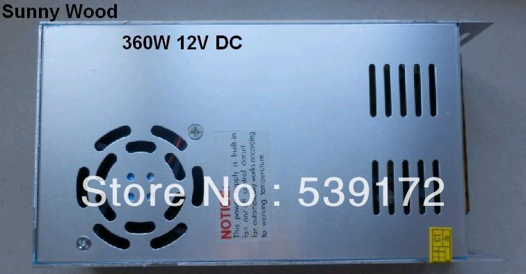 2 years warranty 360W Switching Power supply 12V DC, 30A led power adapter, Low price,high quality 100-240V AC Free shipping(China (Mainland))