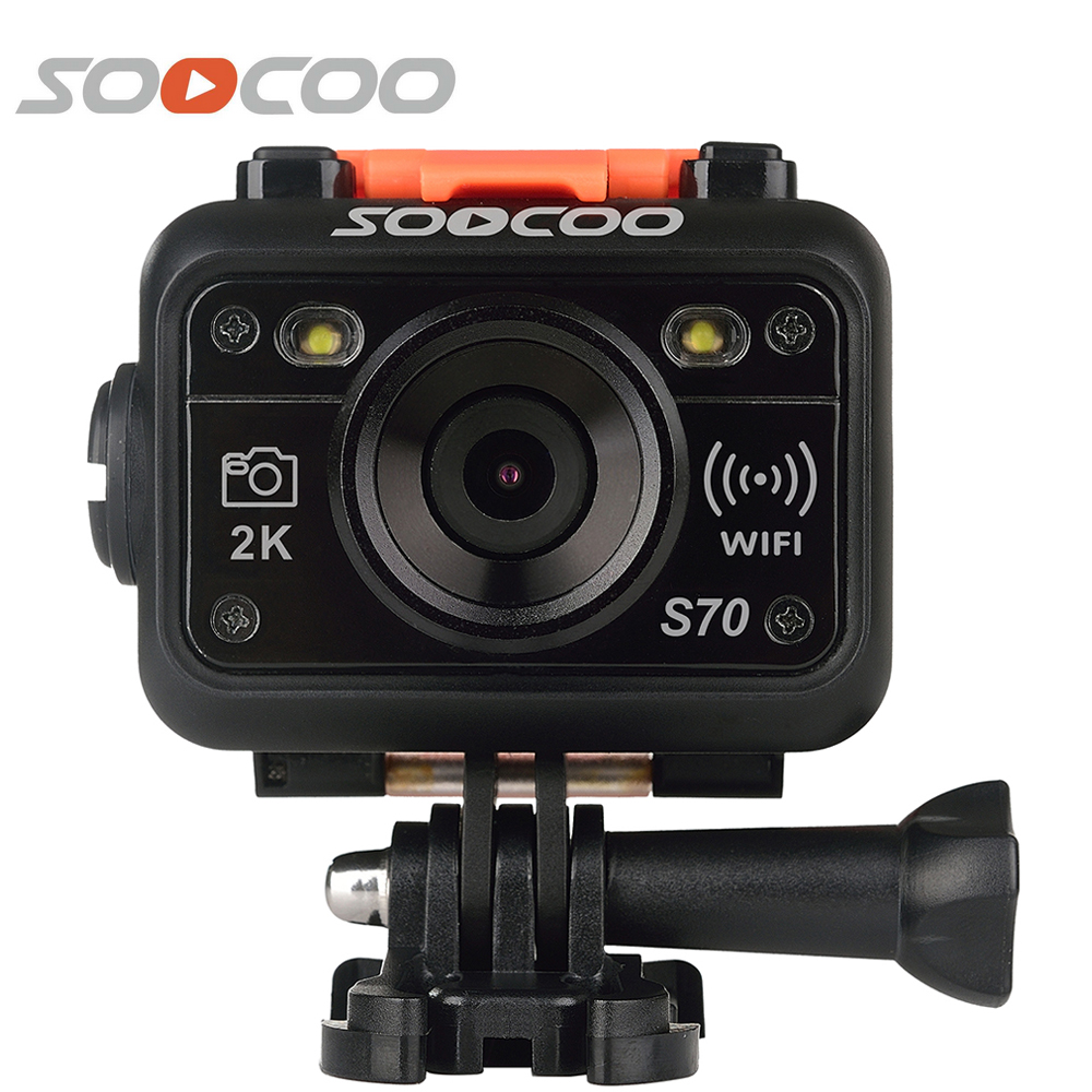 SOOCOO S70 2K Wifi Sport Action Camera Waterproof 60m 170 Degree Helmet Diving Camera Video Cam with 2.4G Watch Remote Control(China (Mainland))