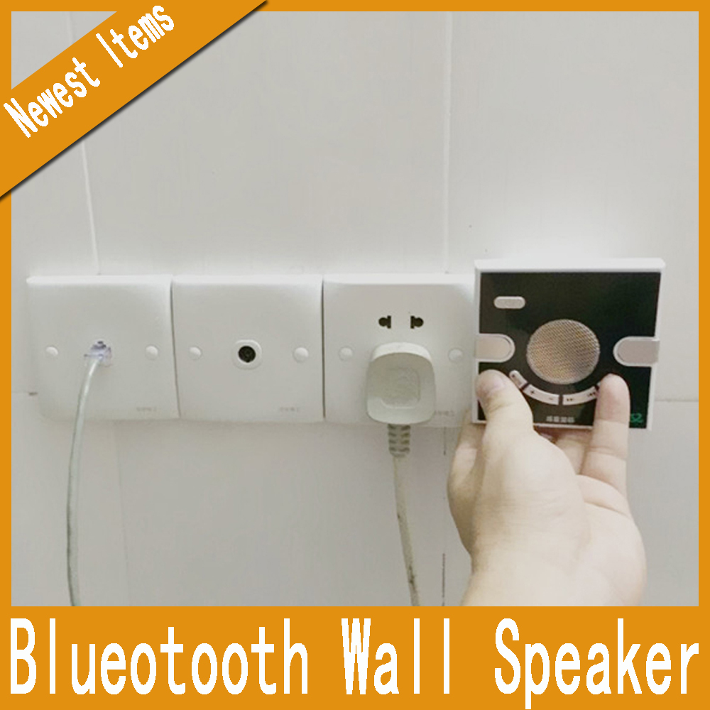 Home Wall Speaker 3.5mm AUX Headphone Jack USB Charging Bluetooth Speaker for Mobile Phone Tablet PC Computer(China (Mainland))