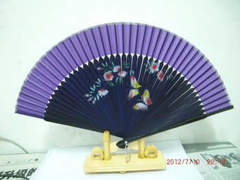 Free shipping&2013 China's beautiful pink butterfly flying in the woods painting folding fan&Hot selling&fashion hand fan