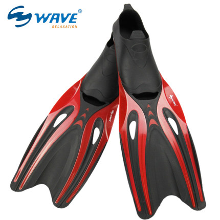New Quality PP TPR Long Swimming Fins Webbed Diving Flippers Webbed Training Pool Aletas Nadadeira Men Women boots shoes bota(China (Mainland))