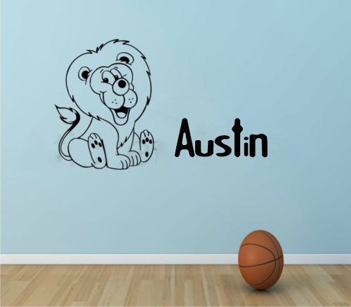 Cute Lion Kids Bedroom Wall Art Wall Stickers decor sticker Children Nursery Home Decal