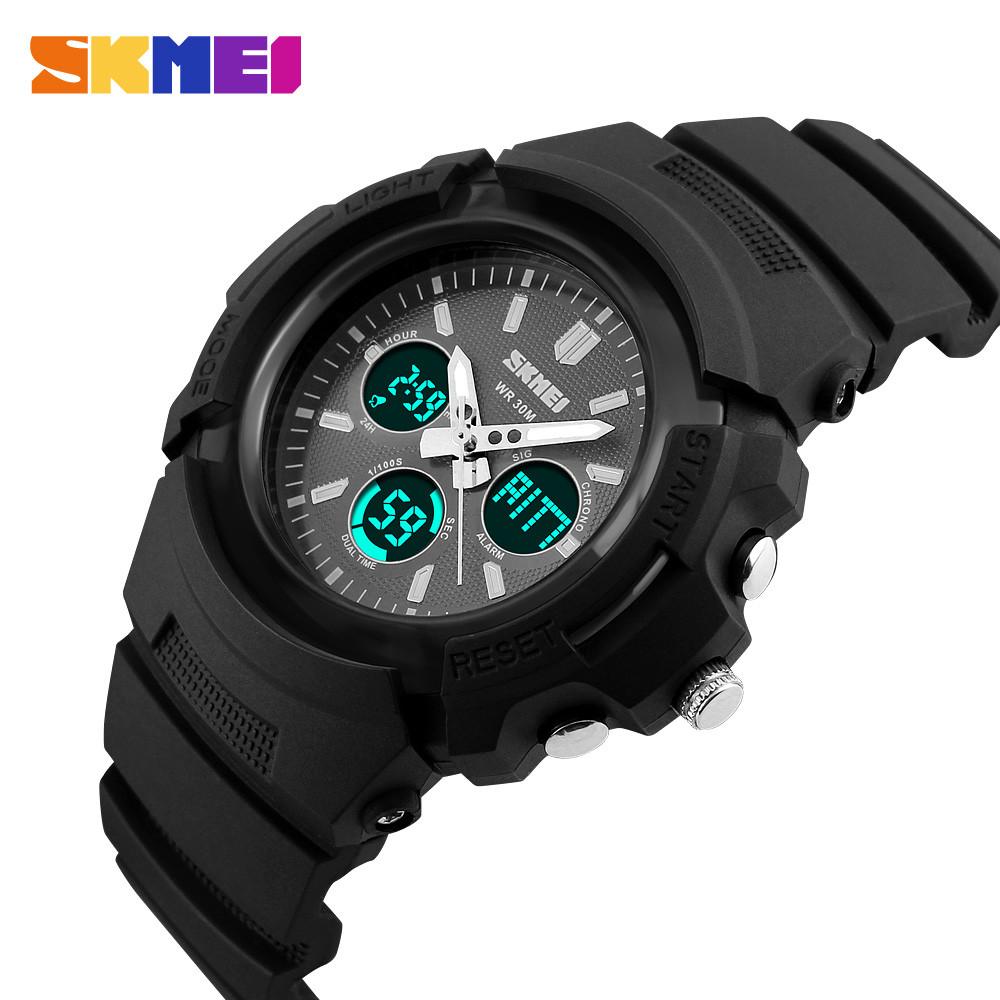 SKMEI Мужчины Спортивные Часы Ударопрочный Кемпинг Роскошные Цифровой Водонепроницаемый LED Наручные Часы