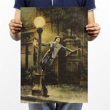 Rain song / movie classic wallpaper / nostalgic / kraft paper poster / Bar decorative painting 51x35.5cm(China (Mainland))