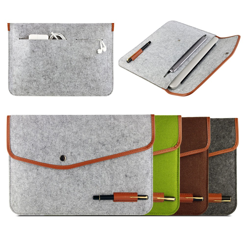New wholesale Cover 11 12 13 Inch Protective Laptop Bag Sleeve Case for Apple Macbook Air Pro Retina 11.6 13.3 Notebook Bag free