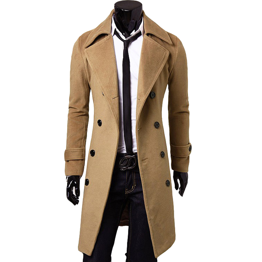 New Style Male Cloth X-long Double Breasted Solid Men Coat Turn-down Collar Full Sleeve Fashion Trend Slim Looking Good Quality Одежда и ак�е��уары<br><br><br>Aliexpress
