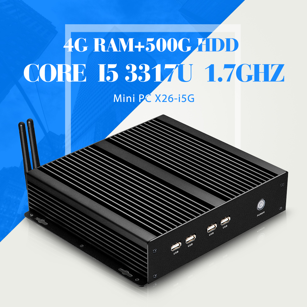 mini desktop computer hdmi deluxe computer i5 3317u 4g ram 500g hdd+wifi industrial computer thin client pc share(China (Mainland))