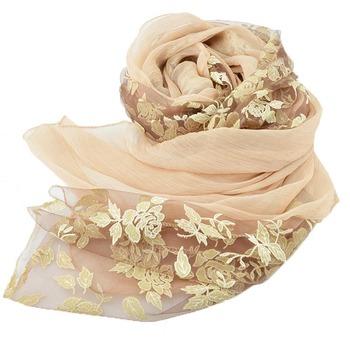 New Women Autumn Winter Faux Silk Scarf Women Floral Lace Shawls and Scarves for Beach,foulard,cachecol feminino bufandas