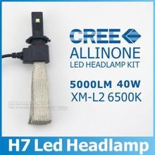 2015 New 40W 5000LM H7 Cree LED Headlight Kit Car Driving Lamp Bulbs 6500K White Fog Lamp Car Light Sourcing