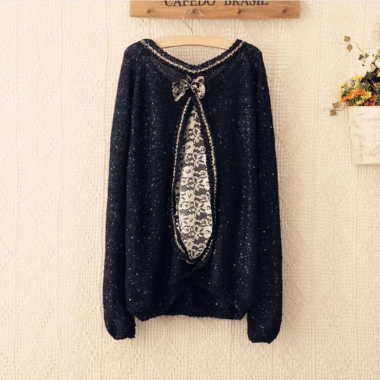 Женский пуловер WSWG o stitchingpaillette 4207