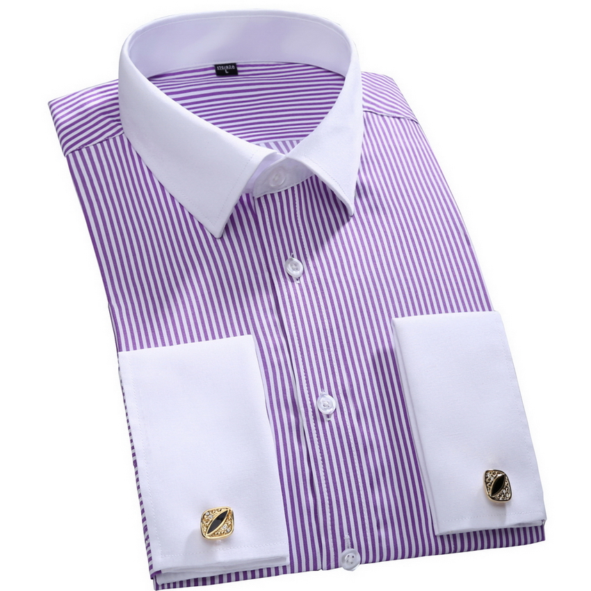Buy French Cuff Button Men Dress Shirts