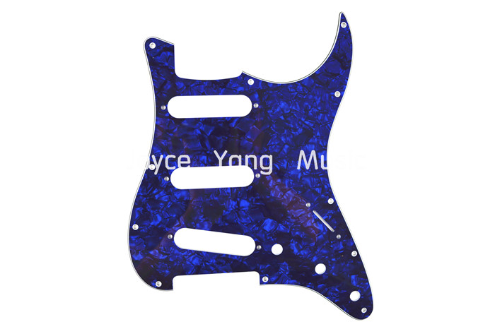 Pearl Blue Celluloid 4 PLY Electric Guitar Pickguard For Fender Strat Style Electric Guitar Free Shipping Wholesales(China (Mainland))