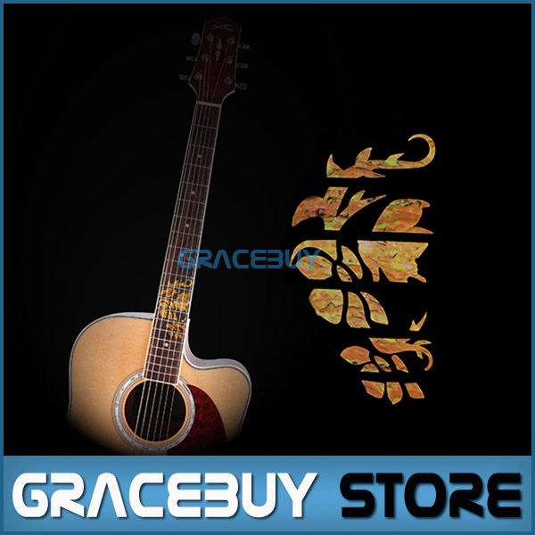 Guitar Fretboard Markers Inlay Stickers Yellow Decals For Electric Acoustic Guitar Fret Neck New(China (Mainland))