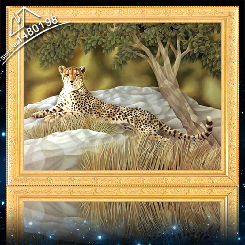 Diamond Embroidery Needlework Leopard DIY Diamond Painting Resinstone Square Handwork Cross Stitch Picture Diamond Mosaic