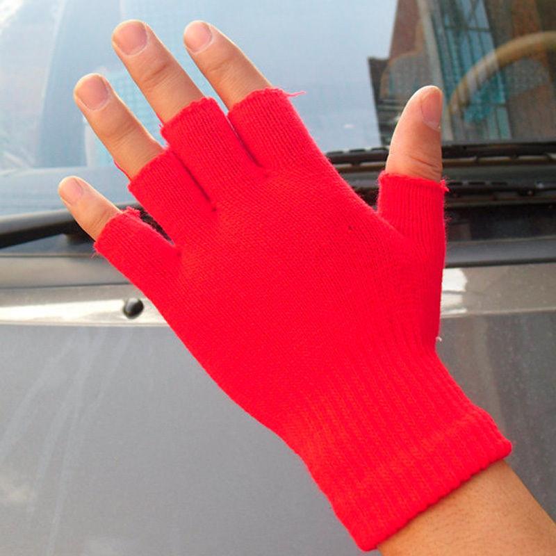 Women  Fingerless Half Fingers Winter Solid Color Warm KnitMagic Gloves MittensОдежда и ак�е��уары<br><br><br>Aliexpress
