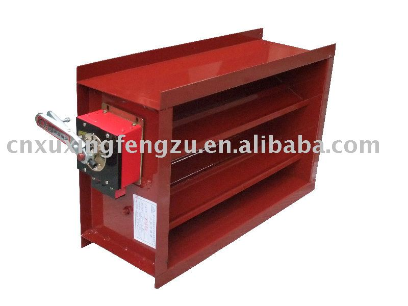Automatic fire damper in air conditioner parts from home for Motorized smoke fire damper