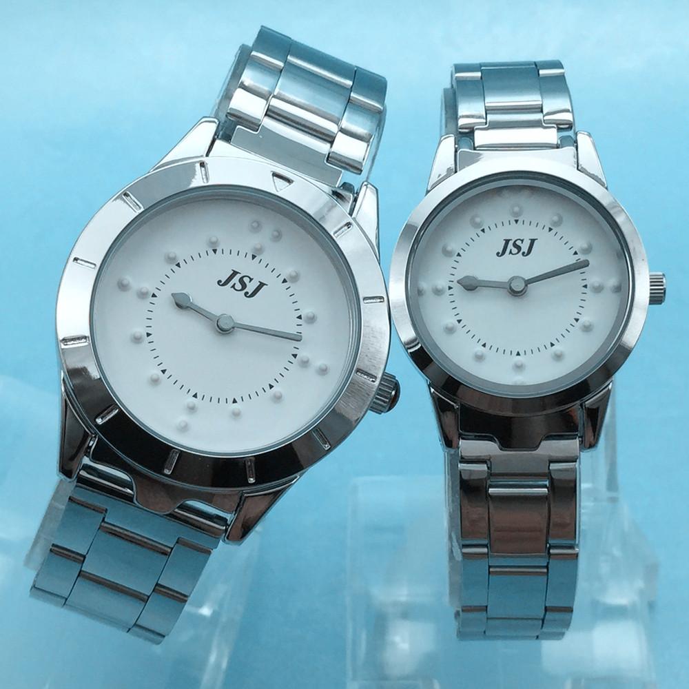 Reloj para ciegos compra lotes baratos de reloj para - Pilas de acero inoxidable ...
