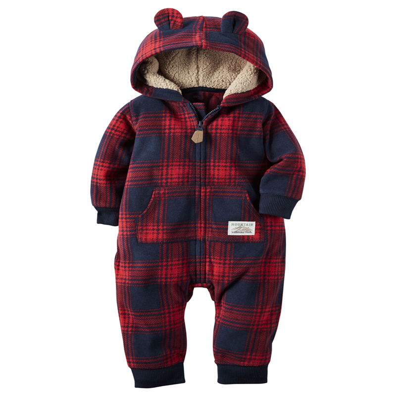 Original kids bebes snow clothes Winter Rompers hoodies infant clothing one piece Baby Girls boys love pink jogging suits(China (Mainland))