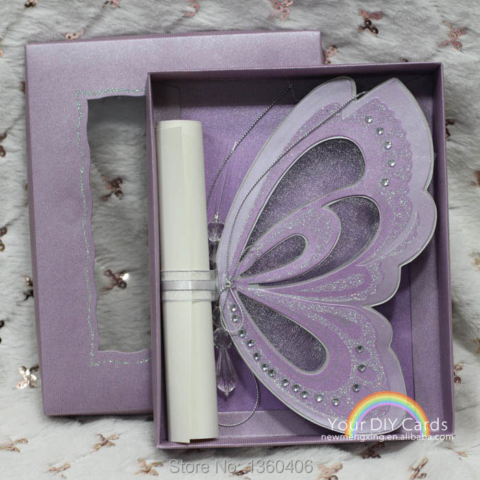 Wholesale 3d Scroll Butterfly Laser Cutting Wedding Invitation ...