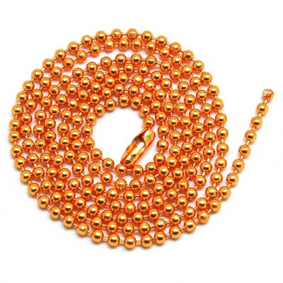 2.4mm orange color 70cms Dog Tag Chains Ball Bead Chain Ball Chains Necklaces Keychains,wholesale chains for jewelry supplies(China (Mainland))