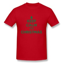 Short Sleeve Cotton keep calm its christmas Exercise t shirts For Men's 2015 Latest Men 3D t shirt Drop Shipping