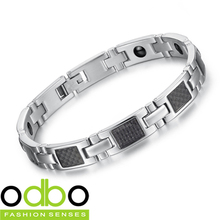 Free Shipping 2014 NEW Hot Sale Fashion jewelry 316L stainless steel Men/Women Magnetic health Bracelets unisex Ornaments DT3356
