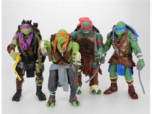 Free Shipping 2014 NEW HOT 4 pieces/set 12cm Anime Cartoon TMNT Teenage Mutant Ninja Turtles PVC Toy Action Figure Toys Dolls