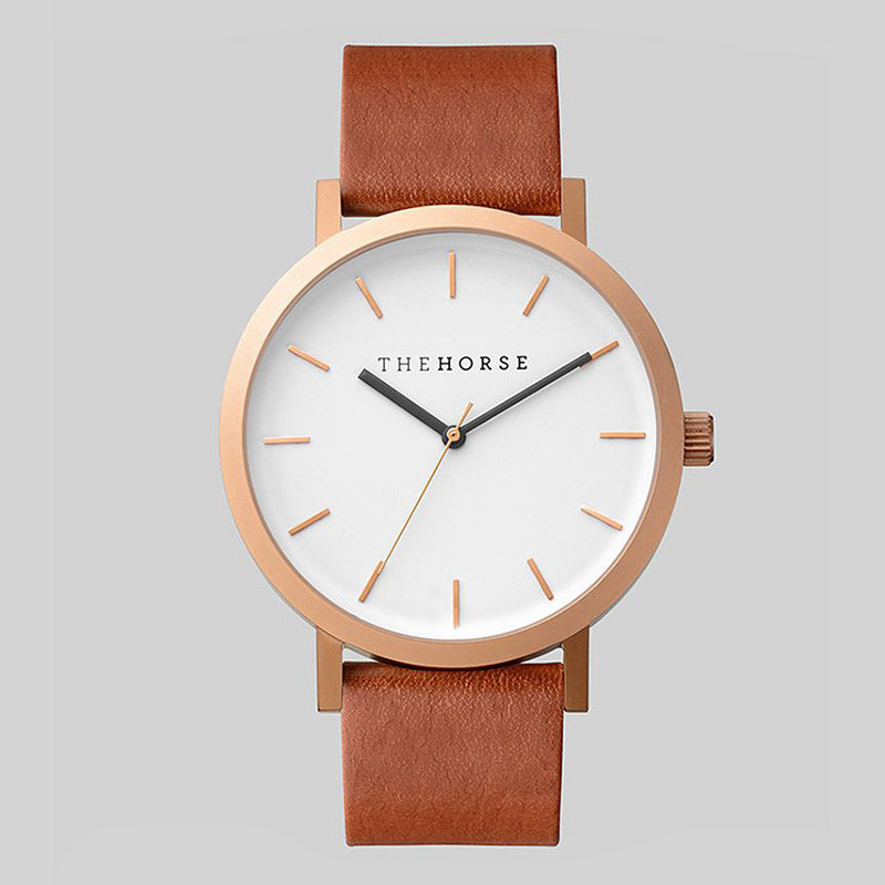 THE HORSE Watch Golden Genuine Leather Quartz Movement Water Resistant 3ATM Watch Women Dress Men Sports Famous Brand Watch(China (Mainland))